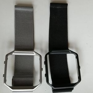 2 APPLE  Watch Bands BLACK &SILVER mesh